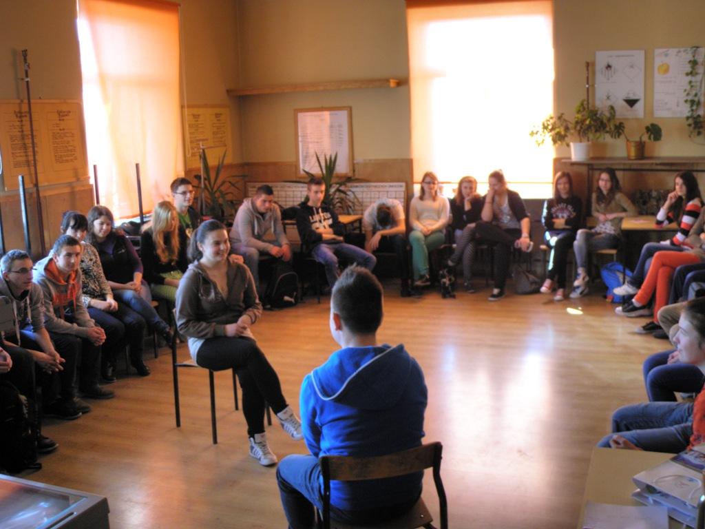 """Szóste warsztaty nt. """"Walcz z przemocą w szkole""""Sixth workshop – Fight with violence in schools"""